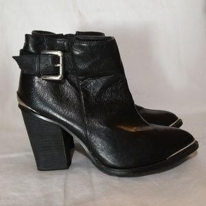 Yellow Box Black Ankle Boots Sz 9